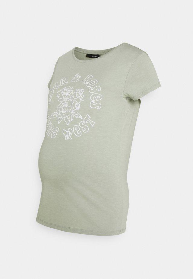 TEE ROCK ROSE - T-shirt imprimé - seagrass