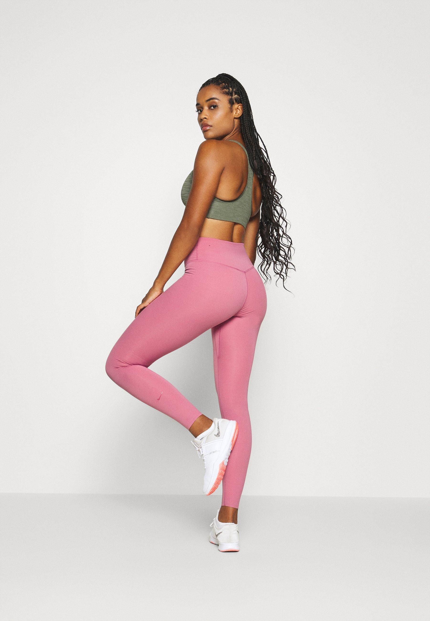 Nike Performance ONE LUXE - Leggings - desert berry/clear TtwQe