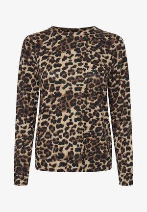 IXANNIE - Maglione - black leopard