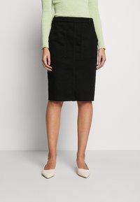Benetton - SKIRT - Pencil skirt - black - 0