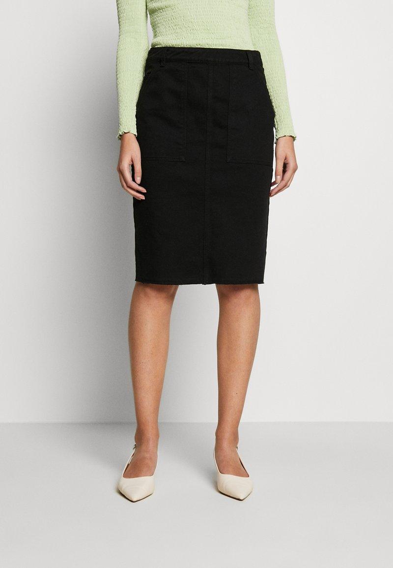 Benetton - SKIRT - Pencil skirt - black