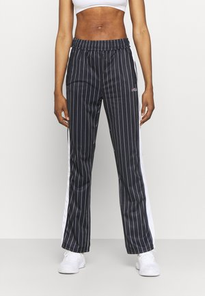 JAIMI PINSTRIPE TRACK PANTS - Tracksuit bottoms - black/bright white
