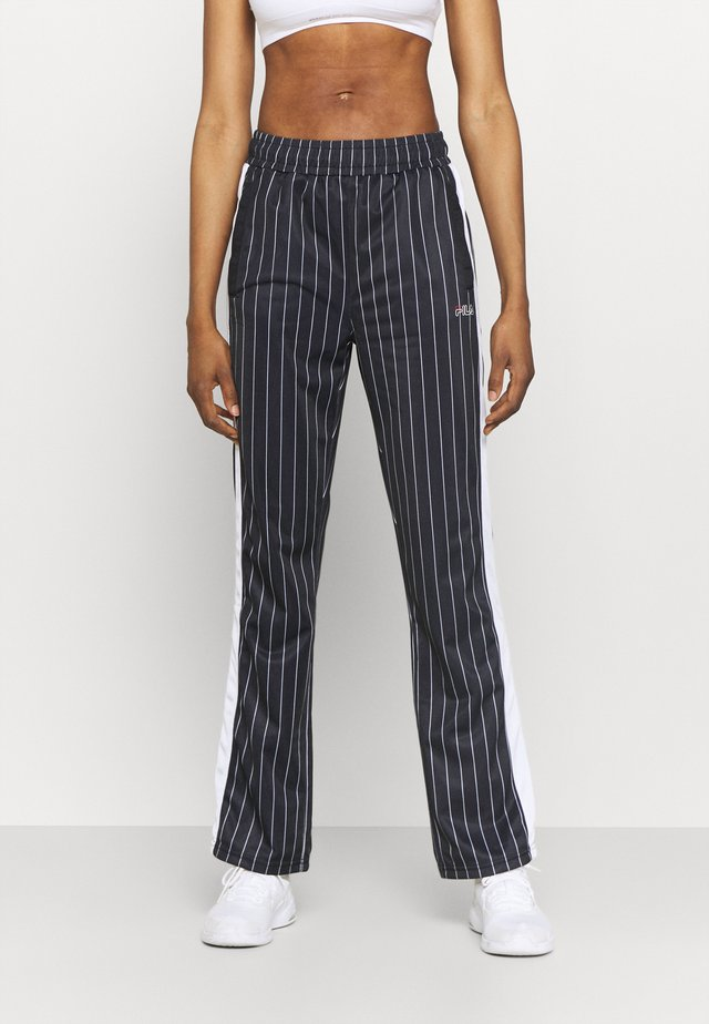 JAIMI PINSTRIPE TRACK PANTS - Trainingsbroek - black/bright white