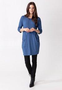 Indiska - LINDEN - Jersey dress - blue - 1