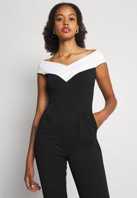 WAL G. - JESSIE JAYNE CONTRAST - Jumpsuit - black/white - 3