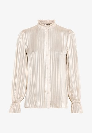 MIT LUREX - Button-down blouse - creme
