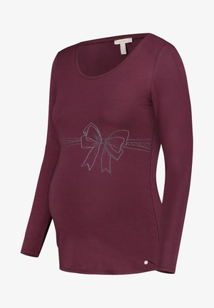 Langærmede T-shirts - garnet red