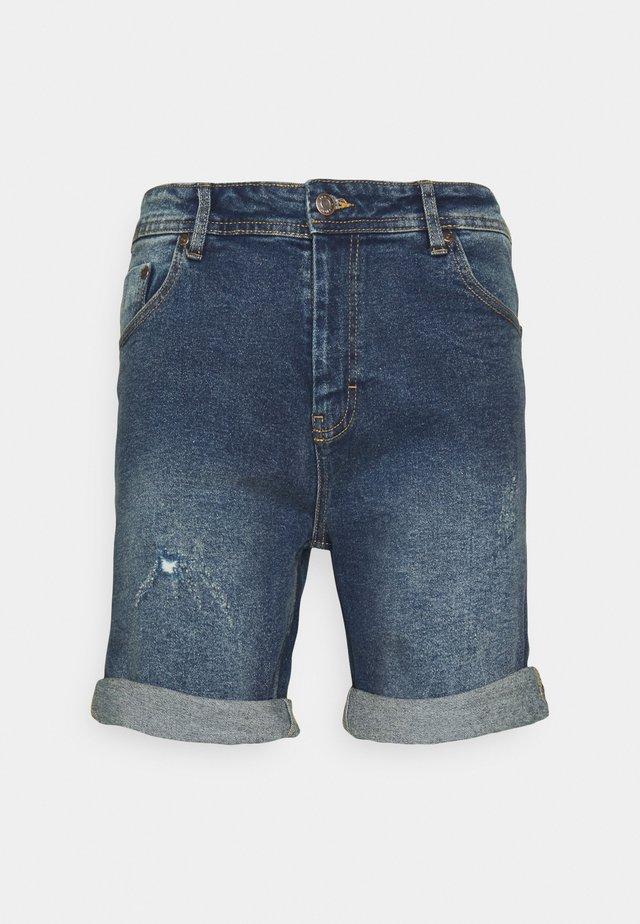 LIGHT DESTROY - Shorts di jeans - texas blue