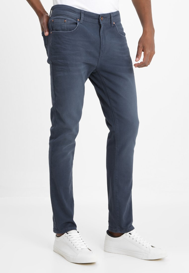 Pier One - COLOURED BARON - Slim fit jeans - dark blue