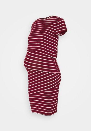 Nursing Shift dress - Etuikjole - red/off-white