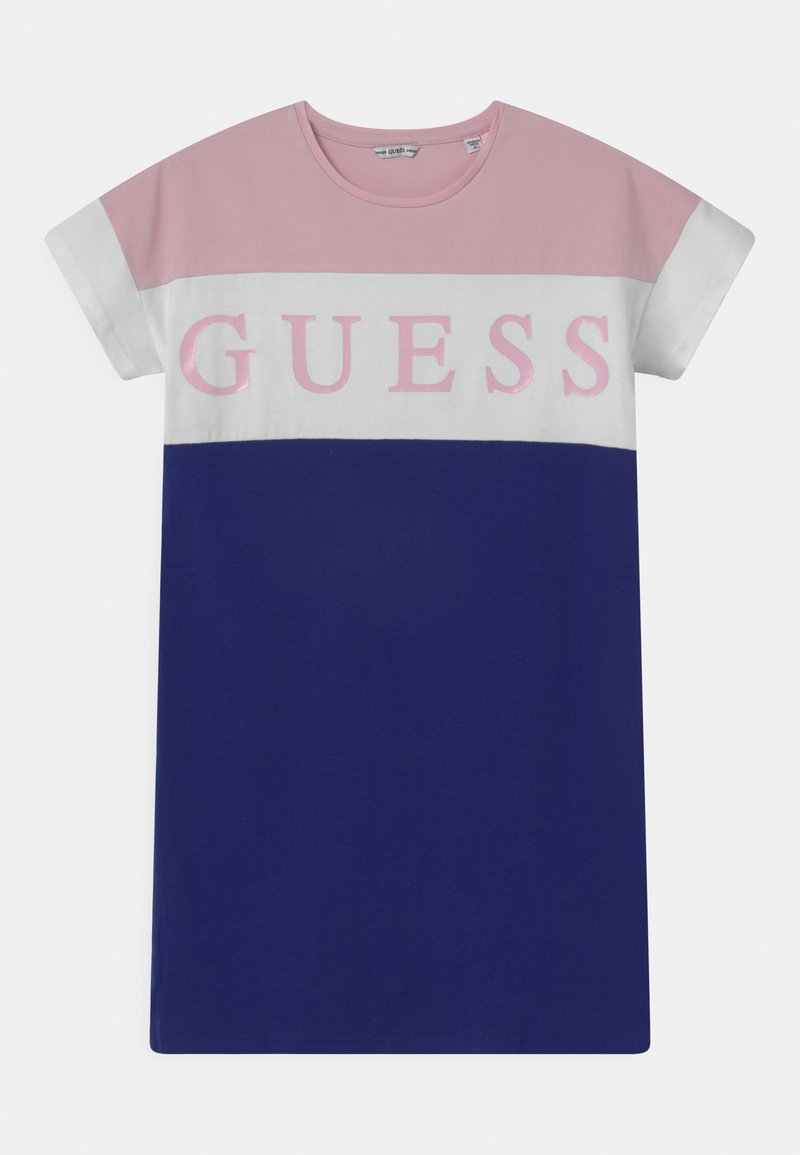 Guess - JUNIOR - Žerzejové šaty - pink/white