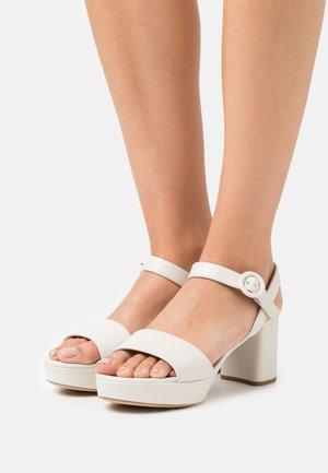 NENES - Korkeakorkoiset sandaalit - ivory