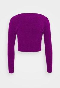 BDG Urban Outfitters - NOORI TIE FRONT CARDI - Gilet - purple - 1