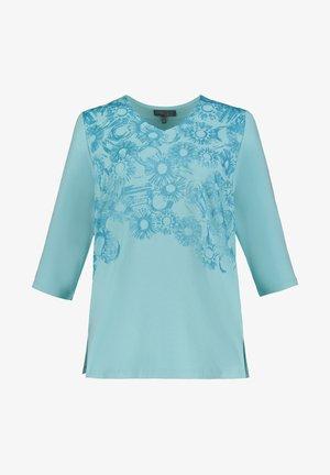 Blouse - mottled turquoise