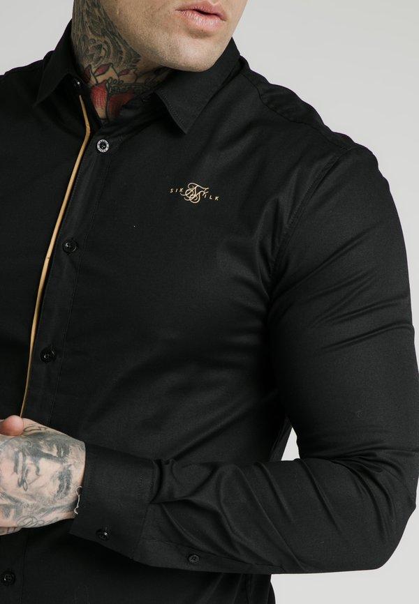 SIKSILK Koszula - black/gold/złoty Odzież Męska FONP