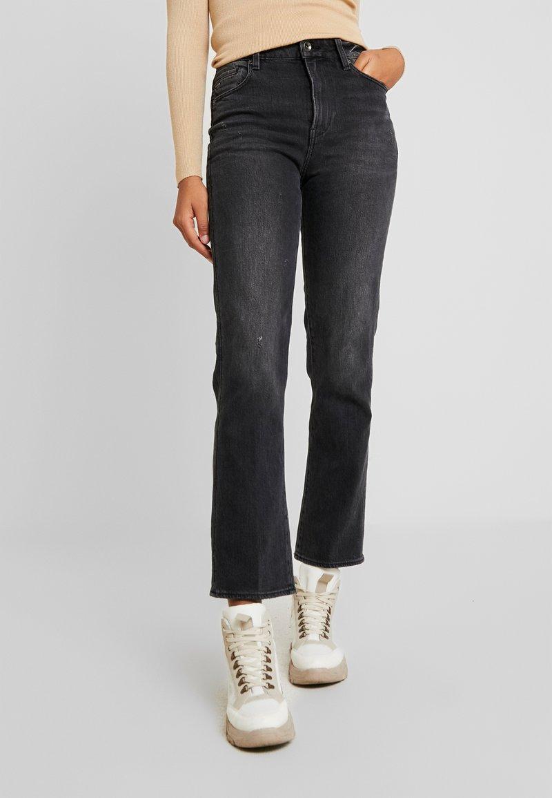 G-Star - CODAM HIGH KICK FLARE 7\8 WMN - Flared Jeans - worn in basalt