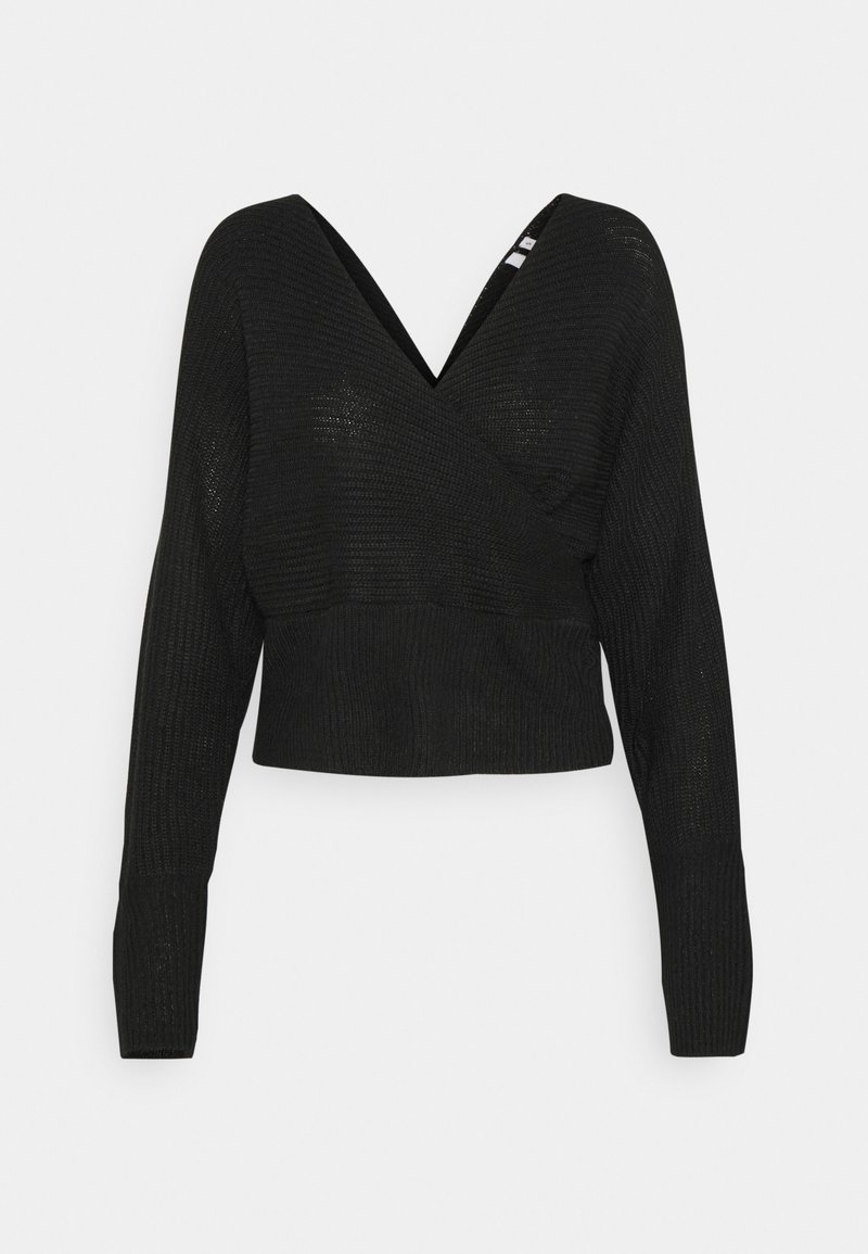 Nly by Nelly - OFF SHOULDER WRAP - Jumper - black