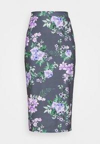 WAL G. - LANCE FLORAL MIDI SKIRT - Pencil skirt - purple - 3