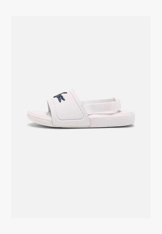 SLIDE UNISEX - Pool slides - white/dark blue