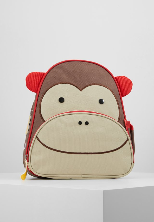 ZOO BACKPACK MONKEY - Ryggsekk - brown