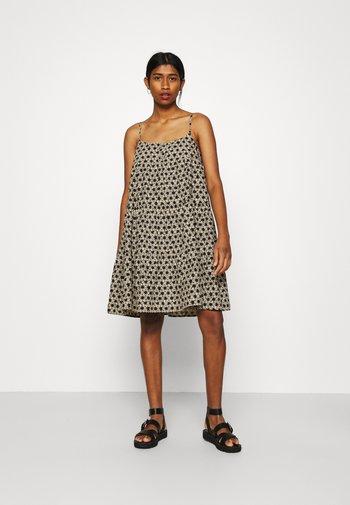 MARA DRESS - Korte jurk - beige/black