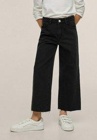 Mango - Flared jeans - sort denim - 0