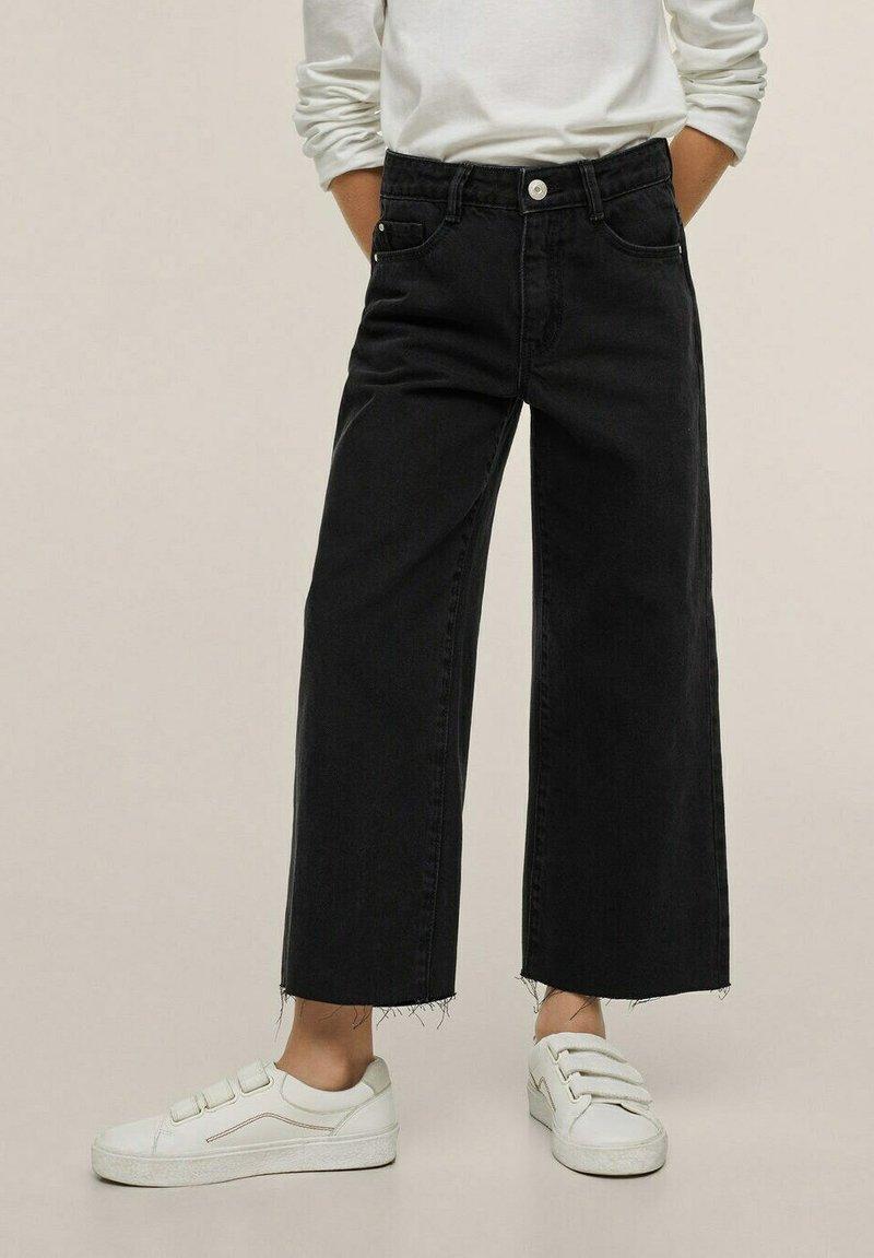 Mango - Flared jeans - sort denim