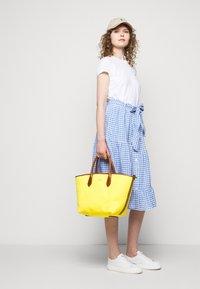 Polo Ralph Lauren - GINGHAM - A-line skirt - medium blue - 3