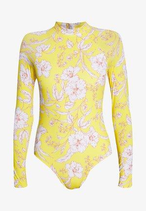 VANUATU LONG SLEEVE ONE PIECE - Swimsuit - sunshine