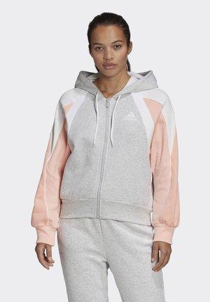 COLORBLOCK FULL-ZIP HOODIE - Zip-up hoodie - grey