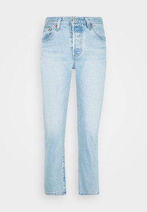 501® CROP - Džíny Slim Fit - light blue denim