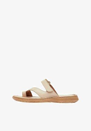 ZEHENSCHLAUFEN - Sandaler - brown, mottled beige