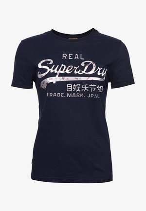 Print T-shirt - eclipse navy