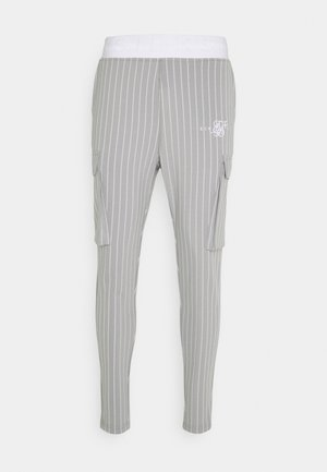 DUAL STRIPE PANT - Tracksuit bottoms - grey/white