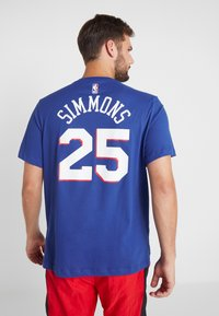 Nike Performance - NBA PHILADELPHIA 76ERS BEN SIMMONS NAME NUMBER TEE - Print T-shirt - rush blue - 2