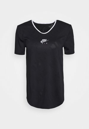 AIR - T-shirt z nadrukiem - black/silver