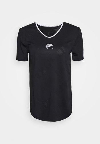 AIR - Print T-shirt - black/silver