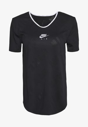 AIR - T-shirt print - black/silver