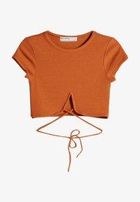 Bershka - Basic T-shirt - brown - 4