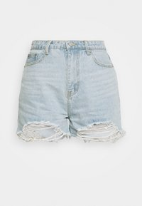 Missguided - EXTREME FRAY RIOT - Shorts di jeans - light blue - 6