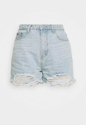 EXTREME FRAY RIOT - Denim shorts - light blue