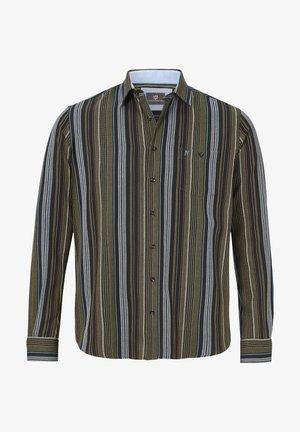 ERWINEK - Shirt - oliv gestreift