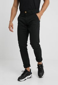 Blend - SLIM FIT - Chino - black - 0