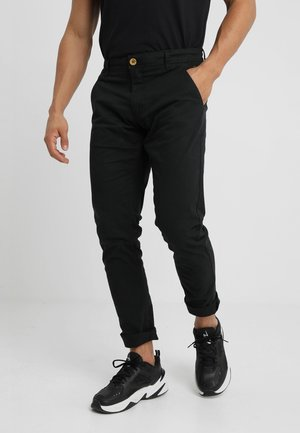 SLIM FIT - Pantalones chinos - black