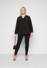 Evans - BLACK BOW - Long sleeved top - black - 1