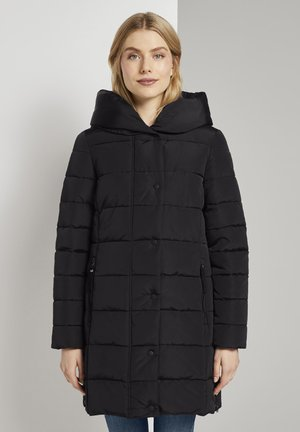 MIT BREITEM KRAGEN  - Winter coat - deep black