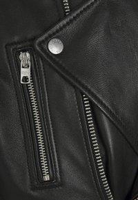 Tigha - BONE - Leather jacket - black - 5