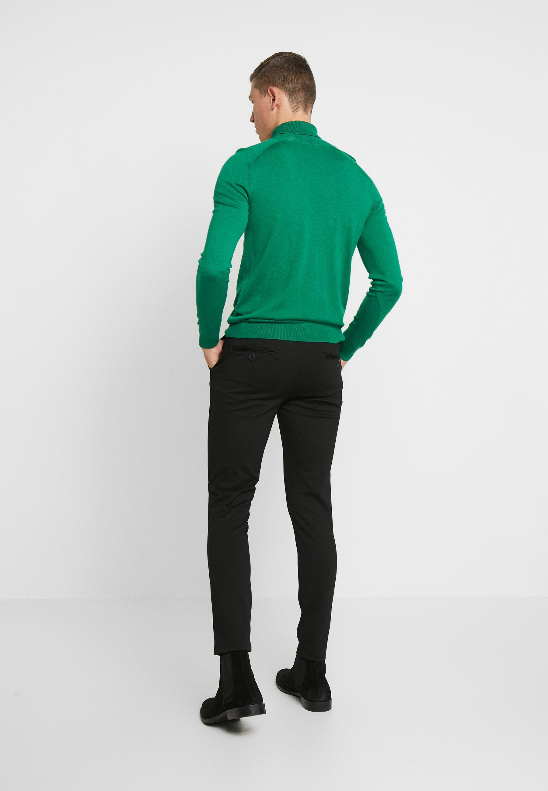 Denim Project PONTE ROMA PLAIN - Trousers - black Q9OSs