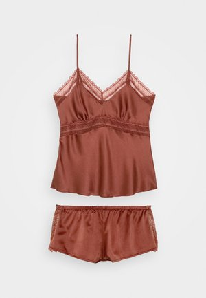 TOP WITH FRENCH KNICKERS SET - Pyjama set - sable