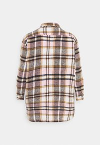 Missguided Plus - OVERSIZED SHIRT DRESS BRUSHED CHECK - Skjortekjole - pink - 6